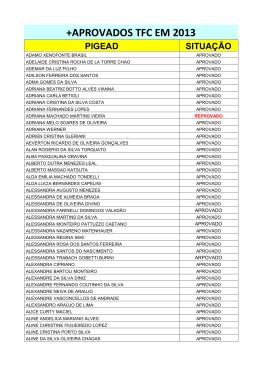 APROVADOS TFC EM 2013