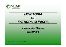 MONITORIA DE ESTUDOS CLÍNICOS