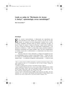 """Lendo as ondas do """"Movimento de Acesso à Justiça"""": epistemologia"""