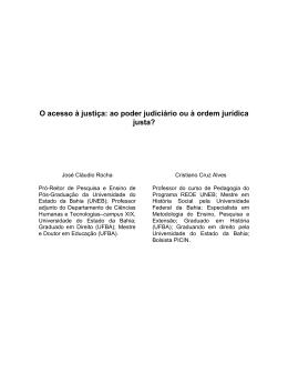 O acesso à justiça: um problema conceitual