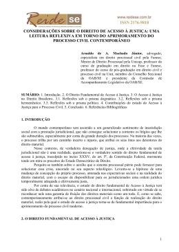 a crise de acesso à justiça no direito brasileiro
