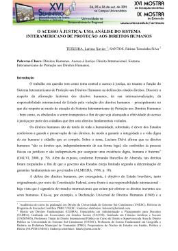 o acesso à justiça: uma análise do sistema interamericano