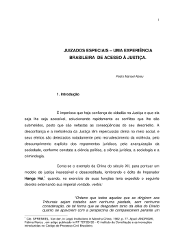 juizados especiais – uma experiência brasileira de acesso à justiça.