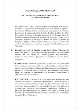 DECLARAÇÃO DE BRASÍLIA - Cumbre Judicial Iberoamericana