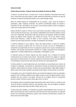 PAÍS DO FUTURO Antônio Álvares da Silva - Professor