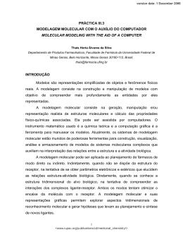 PRÁCTICA III.3 MODELAGEM MOLECULAR COM O