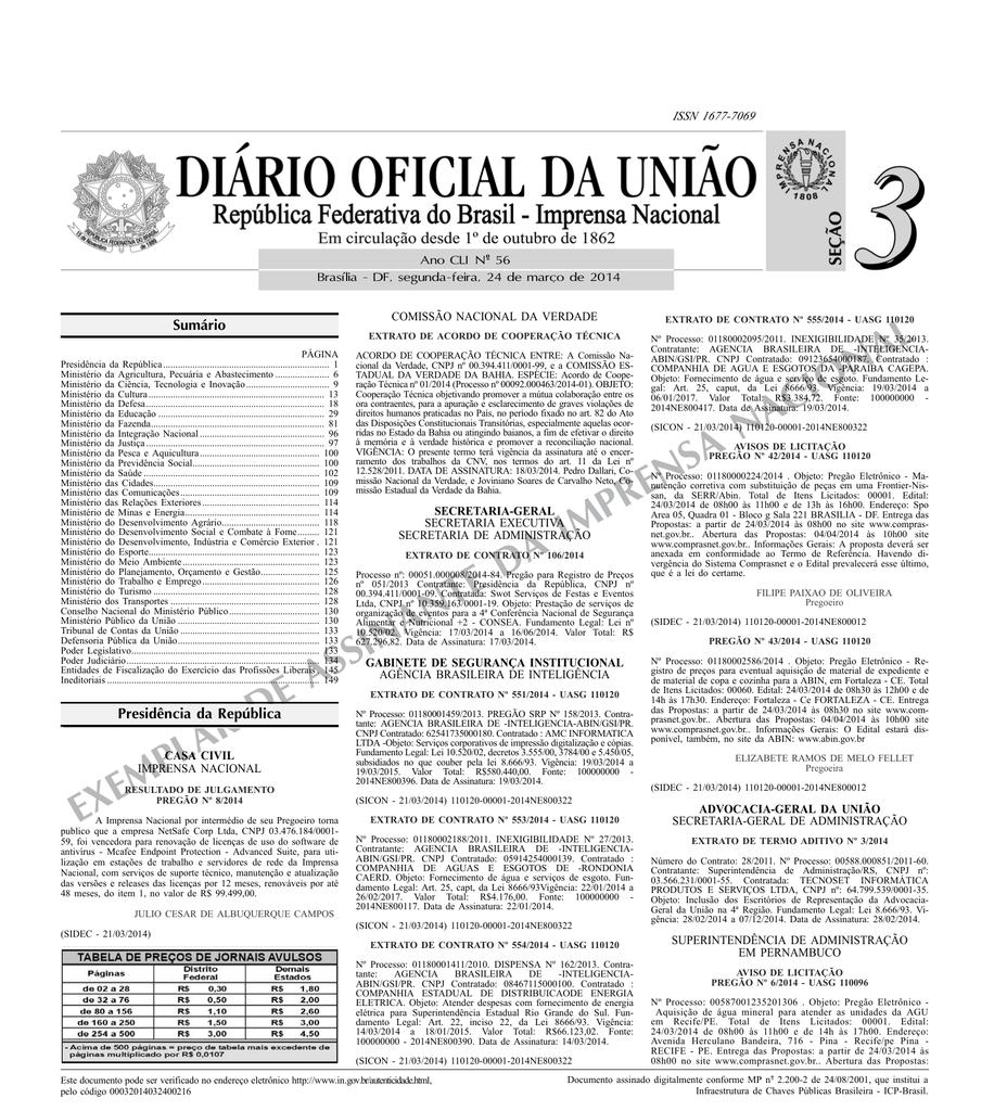 44a6450b4c703 exemplar de assinante da imprensa nacional