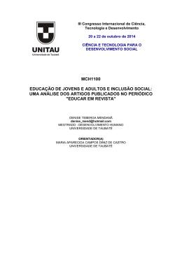 mch1100 educação de jovens e adultos e inclusão social
