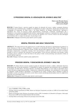 o processo grupal e a educação de jovens e adultos1