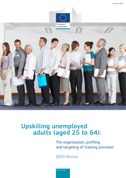 EEPO Review – Upskilling unemployed adults (aged 25 to 64