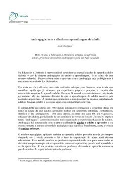 Andragogia: arte e ciência na aprendizagem do adulto