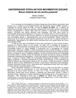 Português - Universidade Popular dos Movimentos Sociais