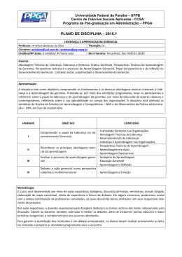 Plano de Ensino LAG-2015.1 - CCSA