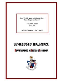 departamento de gestão e economia - O DGE