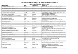 subsídios para participação em congressos internacionais