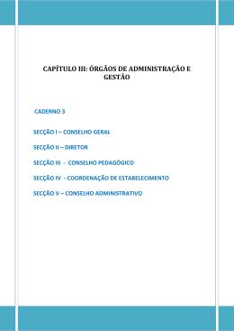 capítulo iii: órgãos de administração e gestão