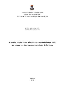 Eudes Oliveira Cunha - RI UFBA