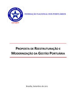 proposta de reestruturação e modernização da gestão portuária