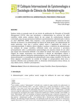 O campo científico da administração: percursos e percalços