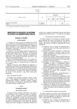 Portaria n.º 63/2001