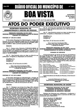 dom nº 3381.pmd - Prefeitura Municipal de Boa Vista