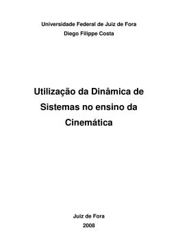 Utilização da Dinâmica de Sistemas no ensino da Cinemática