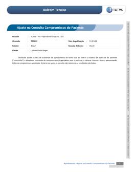 Boletim Técnico Ajuste na Consulta Compromissos do - TDN