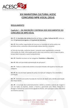 Regulamento Concurso MPB Vocal