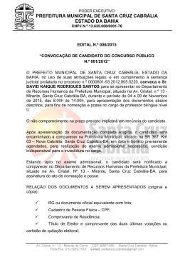 Edital n.º 006/2015