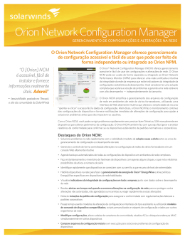 Orion Network Configuration Manager