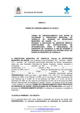 Anexo II - Secretaria de Saúde de Joinville