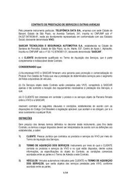 CONTRATO DE PRESTAÇÃO DE SERVIÇOS E OUTRAS