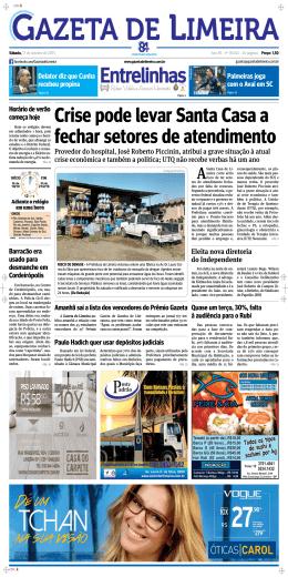 Crise pode levar Santa Casa a fechar setores de atendimento