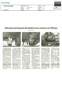 Selecção portuguesa defutebol uma semana em Óbidos