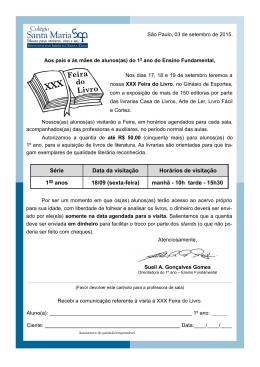Livro Feira - Colégio Santa Maria