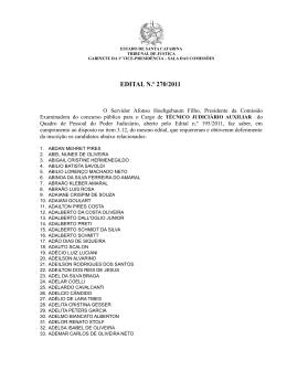 EDITAL N.º 270/2011 - Tribunal de Justiça de Santa Catarina