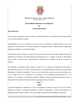 EDITAL Nº - Câmara Municipal de Valença