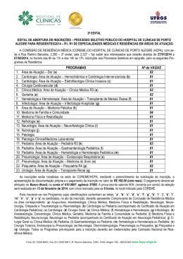 Edital - Sociedade Brasileira de Transplante de Medula Óssea