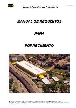 manual de requisitos para fornecimento