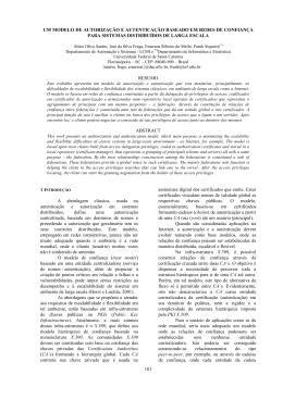 Um Modelo de Autorização e Autenticação Baseado em Redes de