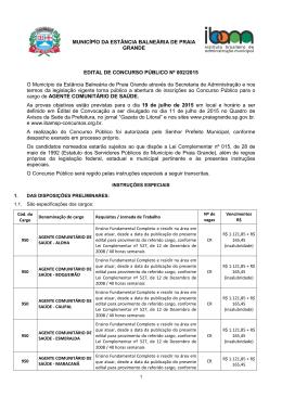 Edital de Concurso Público nº 002-2015