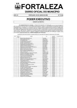 diário oficial do município - Prefeitura Municipal de Fortaleza