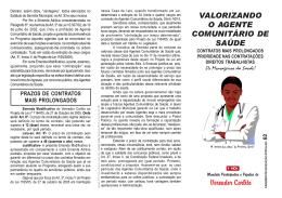 Valorizando o agente comunitário de saúde