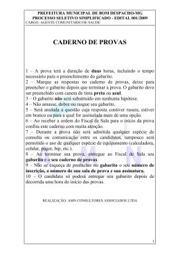 CADERNO DE PROVAS