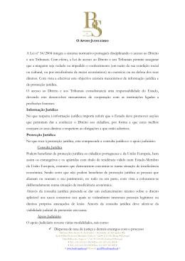 A Lei nº 34/2004 integra o sistema normativo português