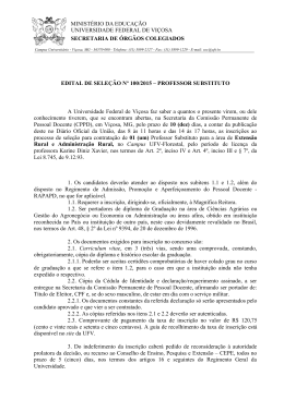 Edital de Seleção nº 100/2015 - SOC