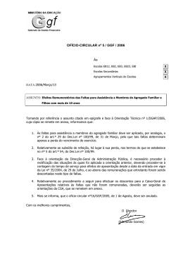 OFÍCIO-CIRCULAR nº 5 / GGF / 2006 Às X X X