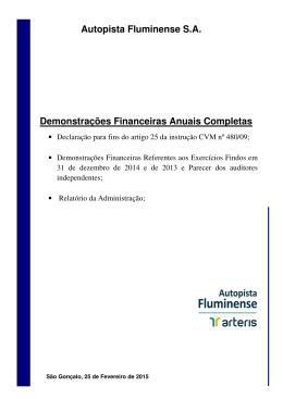 Relatório da Administração-2014-Autopista Fluminense