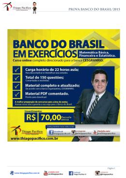 PROVA BANCO DO BRASIL/2015