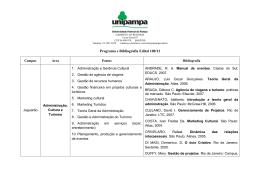 Programa e Bibliografia Edital 100/2012